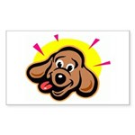 Happy Dachshund Cartoon Rectangle Sticker