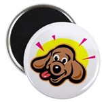 Happy Dachshund Cartoon Magnet