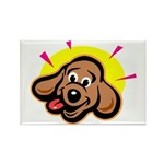 Happy Dachshund Cartoon Rectangle Magnet