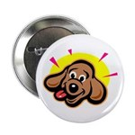 Happy Dachshund Cartoon Button