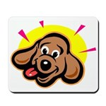 Happy Dachshund Cartoon Mousepad