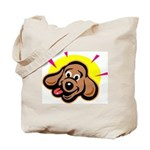 Happy Dachshund Cartoon Tote Bag