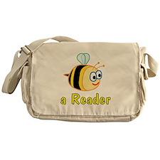 Book Reading Messenger Bag