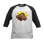 Happy Dachshund Cartoon Kids Baseball Jersey