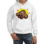 Happy Dachshund Cartoon Hooded Sweatshirt
