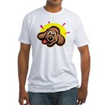 Happy Dachshund Cartoon Fitted T-Shirt