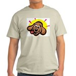 Happy Dachshund Cartoon Ash Grey T-Shirt