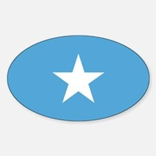 Somalian Flag Oval Decal