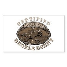 Certified Rodeo Buckle Bunny Decal