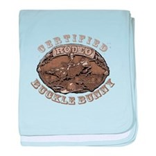 Certified Rodeo Buckle Bunny baby blanket