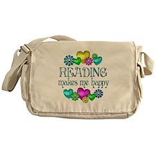 Reading Happiness Messenger Bag