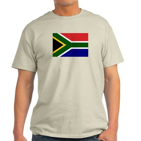 South African Flag Ash Grey T-Shirt
