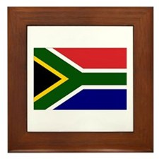 South African Flag Framed Tile