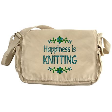 Happiness Knitting Messenger Bag