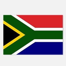 South African Flag Postcards (Package of 8)