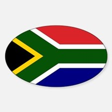 South African Flag Oval Decal