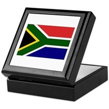 South African Flag Keepsake Box