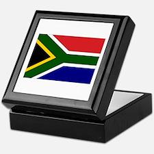 South African Flag Keepsake Box