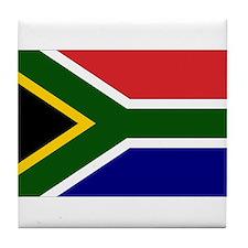 South African Flag Tile Coaster