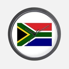 South African Flag Wall Clock