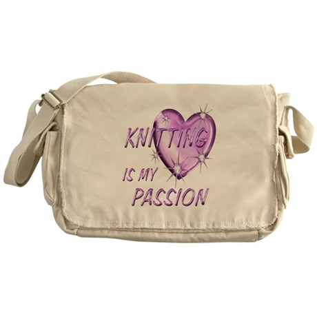 Knitting Passion Messenger Bag