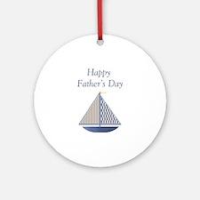 Happy Father's Day (boat) Ornament (Round)