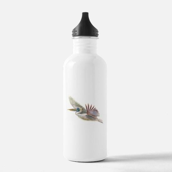pelican in flight Water Bottle