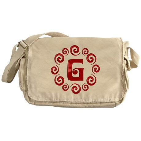 Red G Monogram Messenger Bag