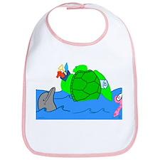 Cartoon Illustrated Turtle Bib