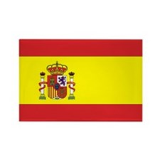 Spanish Flag Rectangle Magnet