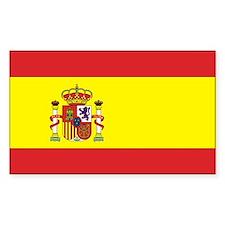 Spanish Flag Rectangle Decal