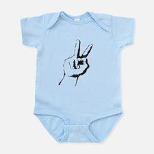 old school peace Infant Bodysuit