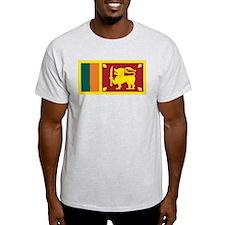 Sri Lanka Flag Ash Grey T-Shirt