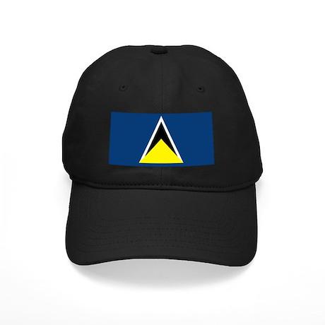 St Lucia Flag Black Cap