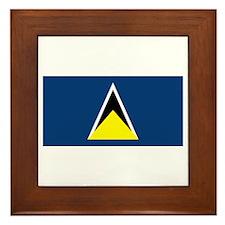St Lucia Flag Framed Tile