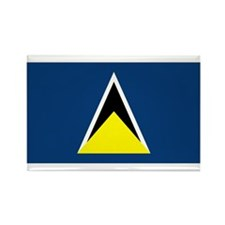 St Lucia Flag Rectangle Magnet