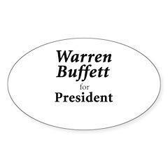 Buffett for President Sticker (Oval 50 pk)