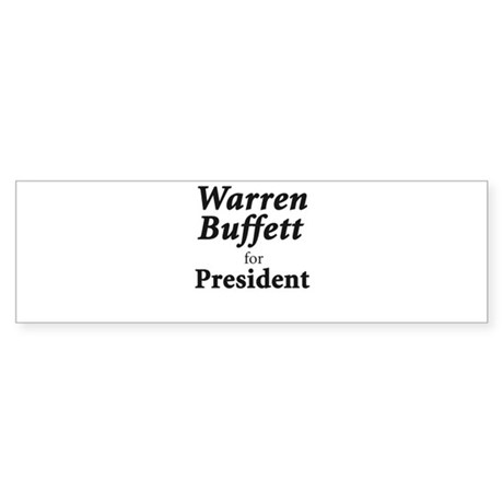 Buffett for President Sticker (Bumper)