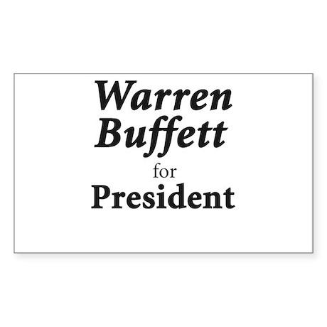 Buffett for President Sticker (Rectangle)