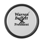 Buffett for President Large Wall Clock