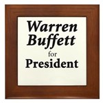 Buffett for President Framed Tile