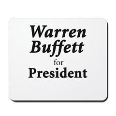 Buffett for President Mousepad