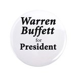 "Buffett for President 3.5"" Button (100 pack)"