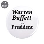 "Buffett for President 3.5"" Button (10 pack)"