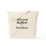 Buffett for President Tote Bag