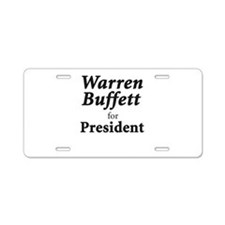 Buffett for President Aluminum License Plate