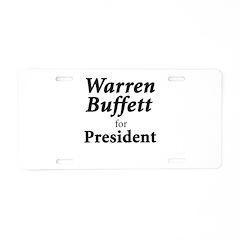 Buffett for President Aluminum License Plate