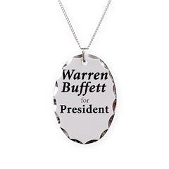 Buffett for President Necklace