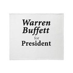 Buffett for President Throw Blanket