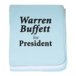 Buffett for President baby blanket
